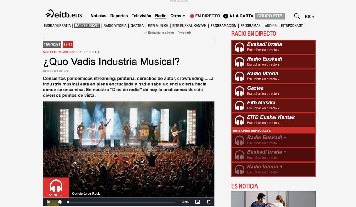 Quo Vadis industria musical